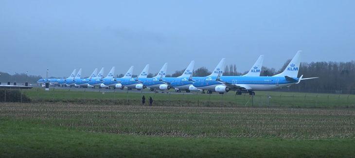 KLM Planes parked